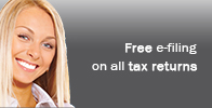 Free e-file included in all tax return preparations